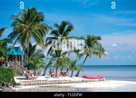 Florida Keys Little Torch Key Little Palm Resort palms sandy beach Harry S. Truman vacationed here - Stock Image