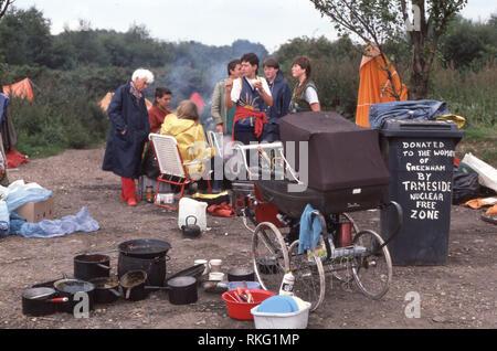 Greenham Common Women's Peace Camp - Stock Image