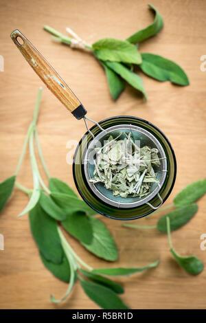Sage herbel tea. - Stock Image