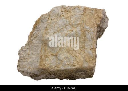 Dolomite rock (dolomitized marine chalk) - Stock Image