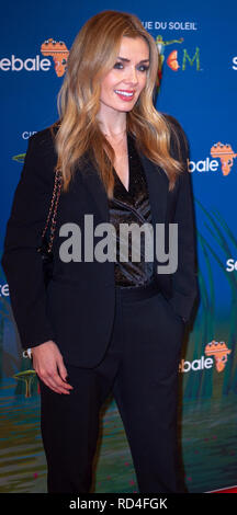 London, United Kingdom. 16 January 2019. Katherine Jenkins arrives for the red carpet premiere of Cirque Du Soleil's 'Totem' held at The Royal Albert Hall. Credit: Peter Manning/Alamy Live News - Stock Image