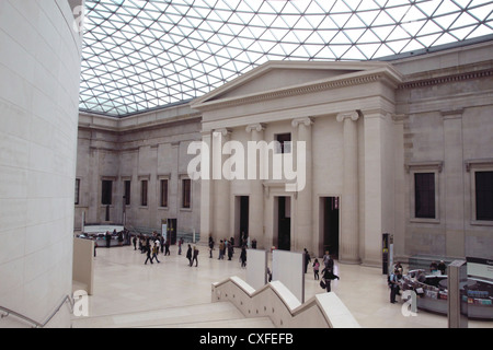 The Great Court inside The British Museum London - Stock Image