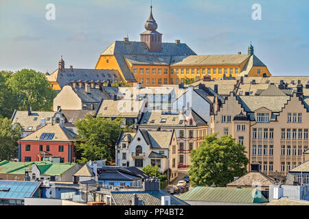 Town Of Alesund  Showing School Norway - Stock Image