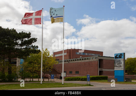 The entrance to the Fisheries and Maritime Museum, Esbjerg, Denmark - Stock Image