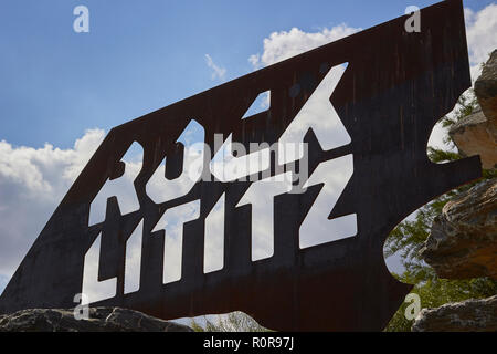 the sign for Rock Lititz, the music production facility inLancaster County Central Park, Lancaster, Pennsylvania, USA - Stock Image