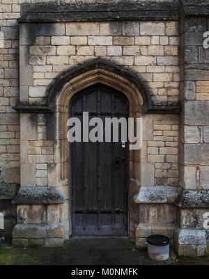Back doorway of St George's Church, Stamford, Lincolnshire, EnglandSt George's Church, Stamford, Lincolnshire, England - Stock Image