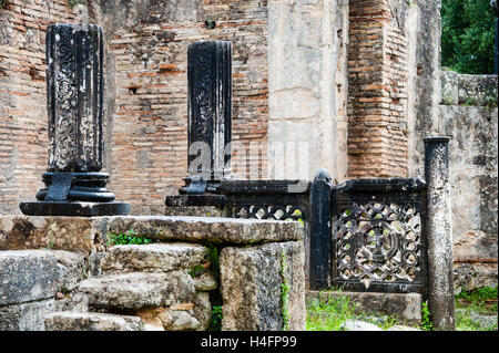 Olympia, Greece. The site of the Olympic Games in classical times. Paleochristian Basilica. - Stock Image