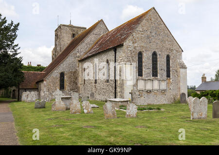 St Michael & All Angels Church, Amberley Church, Amberley, West Sussex - Stock Image