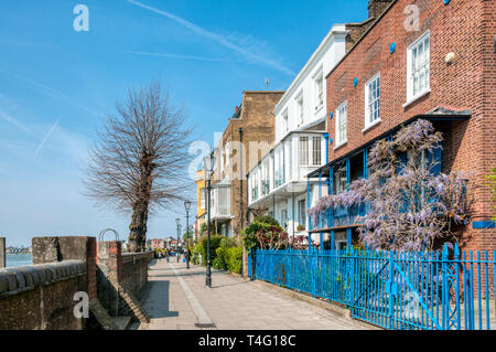 Lower Mall beside the River Thames in Hammersmith. - Stock Image