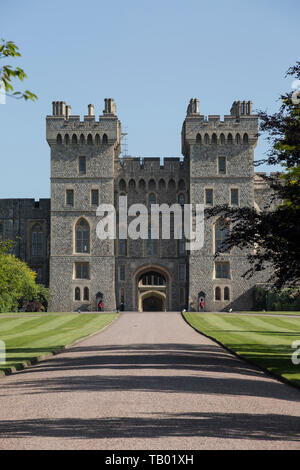 Windsor, historic town and residence to the Royal Family at Windsor Castle built by William The Conqueror, located in the southeast of England, UK - Stock Image