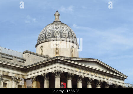 The National Gallery stands on the northern side of Trafalgar Square, London - Stock Image