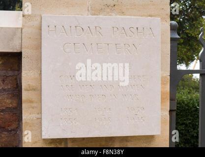 Haidar Pasha Cemetery in Istanbul Turkey - Stock Image