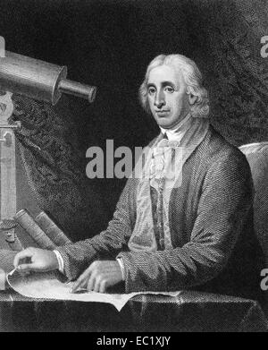 David Rittenhouse (1732-1796) on engraving from 1835. American astronomer, inventor, clockmaker, mathematician and - Stock Image
