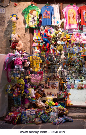 Shopping in Greece - toy shop - Stock Image