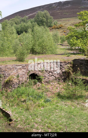 The derelict remains of Stanhopeburn originally lead and later fluorspar mine, near Stanhope, Co. Durham, England, UK - Stock Image