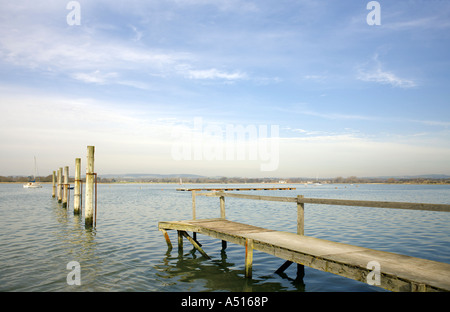 Dell Quay Chichester Harbour Dell Quay Apuldram Chichester Harbour boat boats yacht sailing sail boat boating water - Stock Image