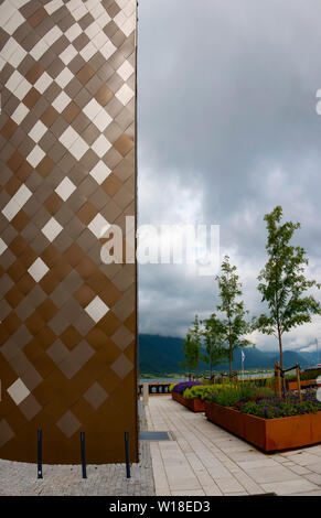 Norsk Tindesenter, Andalsnes, Norway. - Stock Image