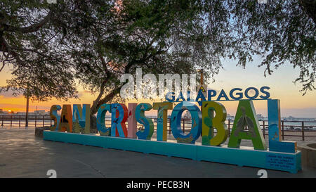 San Cristobal Sunset - Stock Image