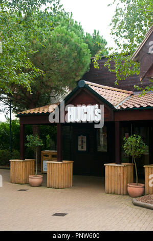 Front Entrance To A Hucks American Bar and Grill Restaraunt UK - Stock Image
