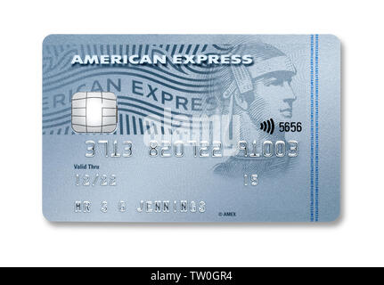 An American Express credit card - Stock Image