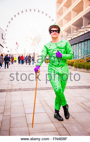 Liverpool, England UK, Sunday 13th March 2016. Fans of Comics, Superheroes & Anime,visit the 2nd day of Liverpool - Stock Image