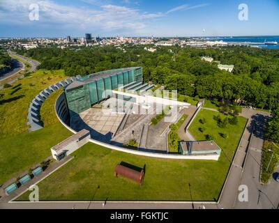 Art Museum KUMU in Tallinn, Estonia. Architect Pekka Vapaavuori. Aerial - Stock Image