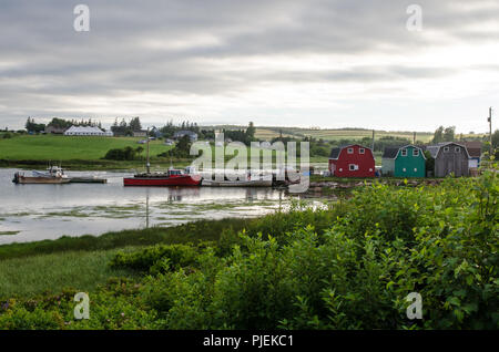 The harbour at French River, Prince Edward Island. - Stock Image