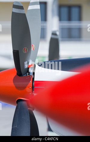 Aircraft propeller detail - Stock Image