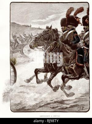 Artillerie a cheval (mounted artillery) - Stock Image