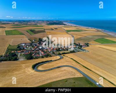 France, Hauts de France, Pas de Calais, aerial pic. Escales - Stock Image