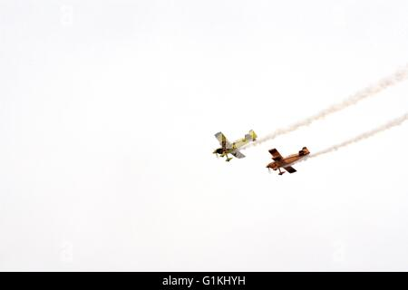 Wolf Pitts Pro / Pitts Special Aerobatics airplanes at Tyabb airshow, Australia, 2016. - Stock Image
