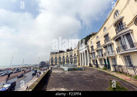 Pelham Crescent, Hastings, East Sussex, England , UK - Stock Image