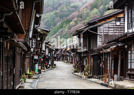 Nakasendo at Narai Juku - The Gokaido highways were established by the Tokugawa shogunate as official routes for daimyo feudal lords and their retaine - Stock Image