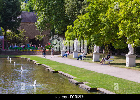 PARK OF THE ELECTORAL PALACE, KURFUERSTLICHES PALAIS, TRIER, TREVES, RHINELAND-PALATINATE, GERMANY - Stock Image