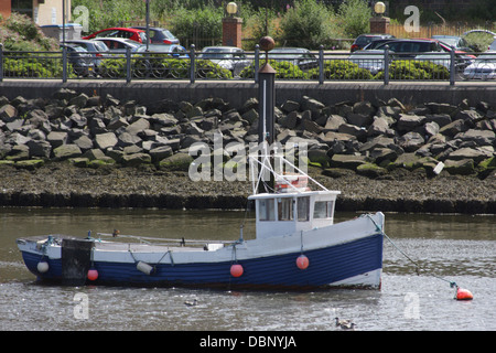 Fishing Boat, moored in the River Wear, near Sunderland Fish Quay and St Peters Riverside. - Stock Image