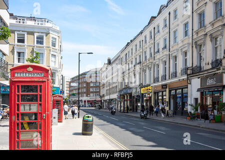 Westbourne Grove, Bayswater, City of Westminster, Greater London, England, United Kingdom - Stock Image