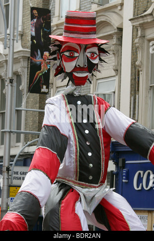 Male Carnival Figure in the Notting Hill Carnival Parade 2009 - Stock Image