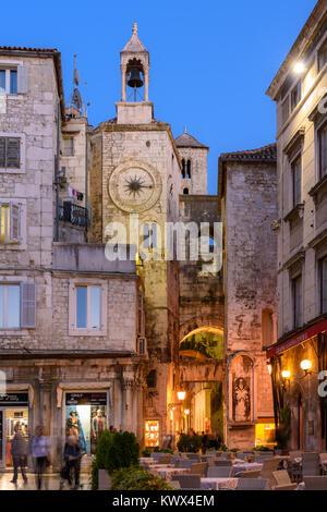 Zvonik Ispod ure/Bell tower under the clock, Split, Croatia - Stock Image
