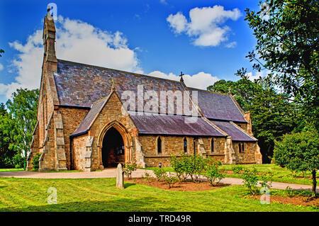 St Marys Church, Longnewton, Stockton on Tees, Cleveland, England - Stock Image