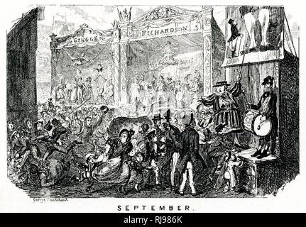 Sideshows at Bartholomew Fair - Stock Image