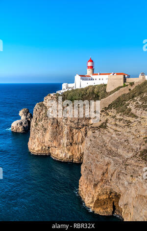 Cape St. Vincent or Cabo de Sao Vicente, Vila do Bispo, Algarve, Portugal - Stock Image
