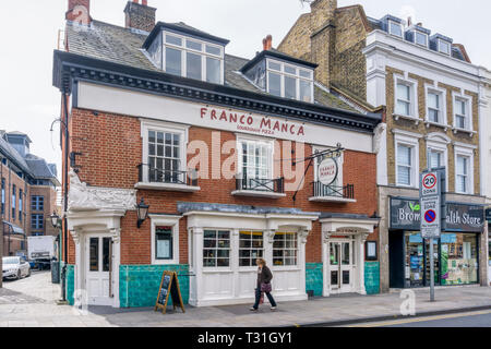 Franco Manca sourdough pizza restaurant has taken over the premises of a closed public house in Bromley - Stock Image