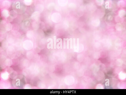 bright background of hazy pink bubbles - Stock Image