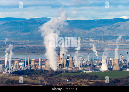 INEOS Grangemouth petrochemical planet and oil refinery in Scotland, UK - Stock Image