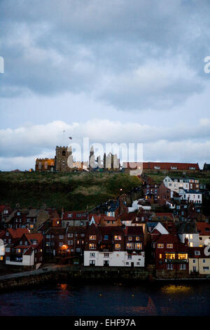 Scenic view of Whitby at Whitby Goth Weekender. - Stock Image