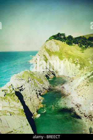 Dorsets jurassic coastline - Stock Image