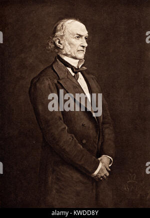 Portrait of The Right Honerable William Ewart Gladstone, MP, Prime Minister of the United Kingdom - Stock Image