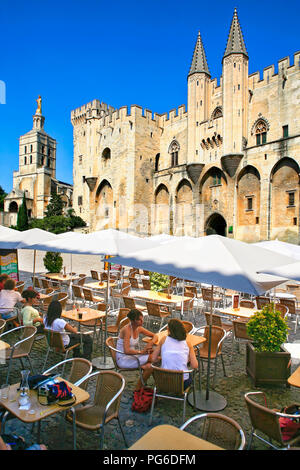 Pope's palace at Avignon France - Stock Image