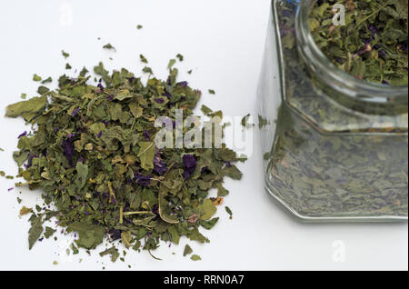 mallow in a glass jar - Stock Image