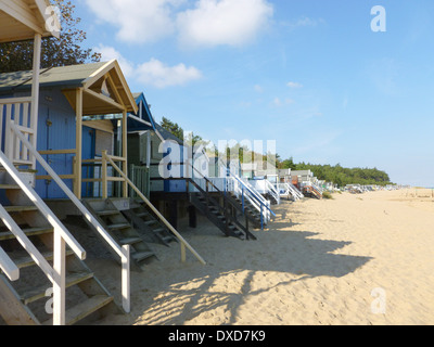 Beach huts at Wells next the Sea, Norfolk, England - Stock Image